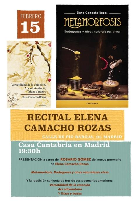 Cartel invitación presentación en Madrid